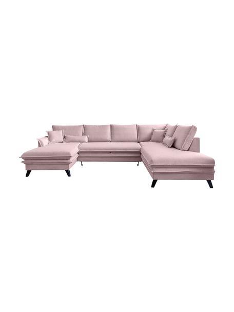 Sofá cama rinconero Charming Charlie, con espacio de almacenamiento, Tapizado: 100%poliéster tacto de l, Estructura: madera, aglomerado, Rosa palo, An 302 x F 200 cm
