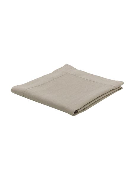 Tovaglia in lino con orlo a giorno Alanta, Beige, Per 6-10 persone  (Larg.160 x Lung. 250 cm)