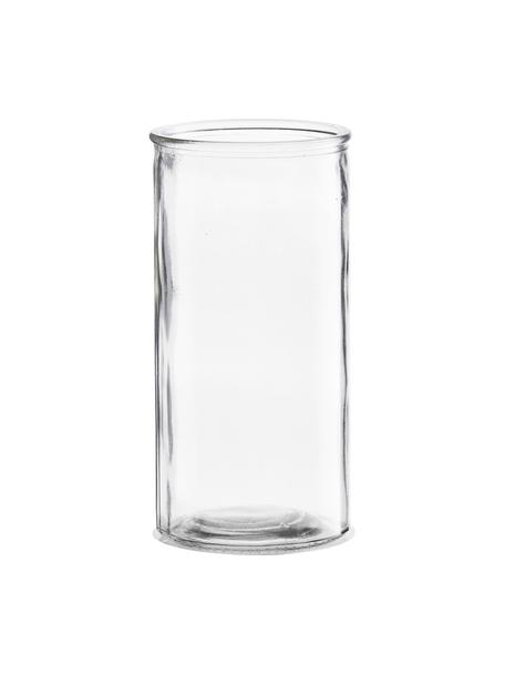 Kleine glazen vaas Cylinder, Glas, Transparant, Ø 10 x H 20 cm