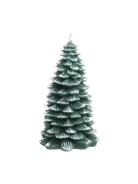 Vela decorativa Winter Tree, Cera, Verde, blanco, Ø 12 x Al 24 cm