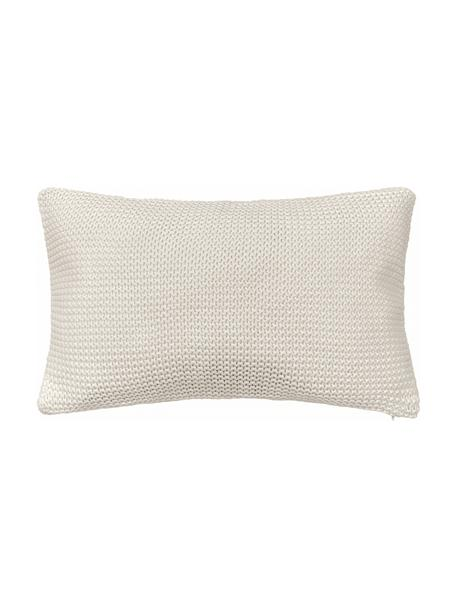 Federa arredo fatta a maglia beige Adalyn, 100% cotone, Beige, Larg. 30 x Lung. 50 cm