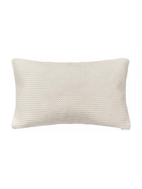 Strick-Kissenhülle Adalyn in Beige, 100% Baumwolle, Beige, 30 x 50 cm