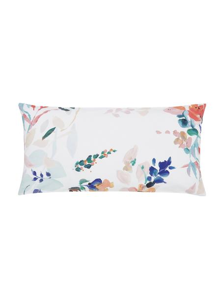 Baumwollperkal-Kopfkissenbezüge Steffi mit Blumenprint, 2 Stück, Webart: Perkal Fadendichte 180 TC, Mehrfarbig, 40 x 80 cm