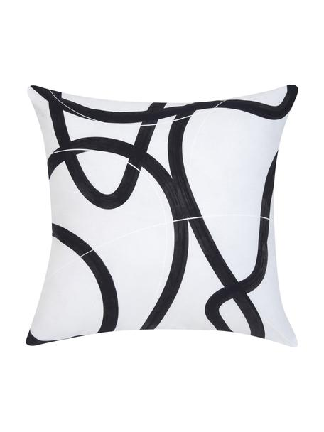 Federa arredo con stampa Elijah, 100% cotone, Beige, nero, bianco, Larg. 40 x Lung. 40 cm
