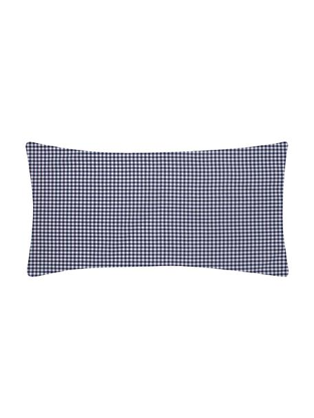 Karierte Baumwoll-Kopfkissenbezüge Scotty in Blau/Weiß, 2 Stück, 100% Baumwolle  Fadendichte 118 TC, Standard Qualität  Bettwäsche aus Baumwolle fühlt sich auf der Haut angenehm weich an, nimmt Feuchtigkeit gut auf und eignet sich für Allergiker, Blau/Weiß, 40 x 80 cm