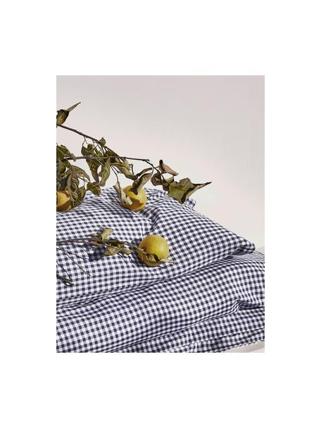 Poszewka na poduszkę z bawełny Scotty, 2 szt., Niebieski, biały, S 40 x D 80 cm