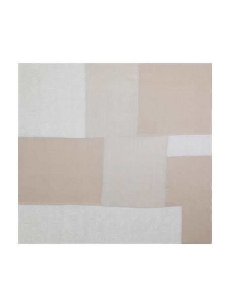 Papel pintado mural Patchwork beige, Tejido no tejido, Tonos beige, An 300 x Al 280 cm