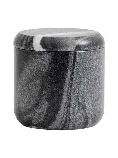 Opbergpot Aggaz van marmer, Marmer, Gemarmerd grijs, Ø 10 x H 10 cm