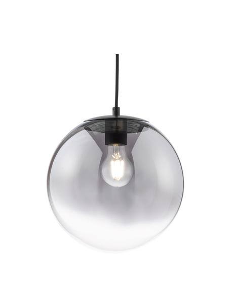 Kleine hanglamp Mirror van glas, Lampenkap: glas, Baldakijn: gecoat metaal, Chroomkleurig, transparant, Ø 25 cm