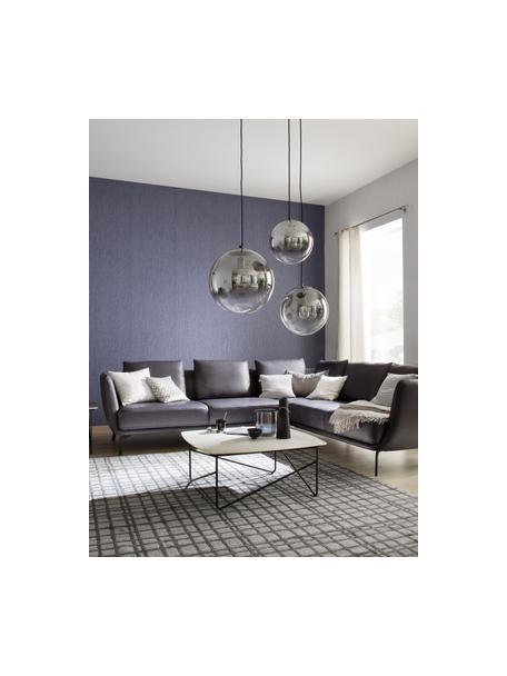Lámpara de techo pequeña de vidrio Mirror, Pantalla: vidrio, Anclaje: metal, recubierto, Cable: cubierto en tela, Cromo, transparente, Ø 25 cm