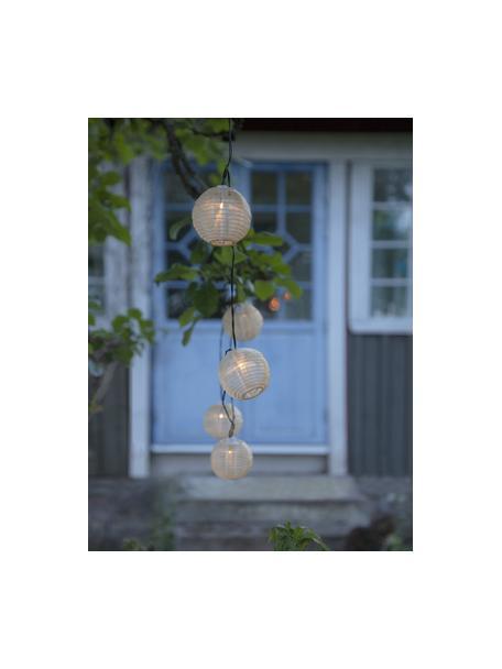Solarna girlanda świetlna Festival, 440 cm i 10 lampionów, Beżowy, D 440 cm