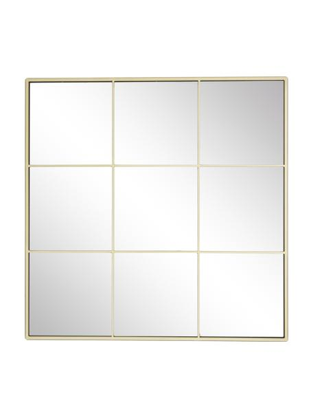 Specchio da parete con cornice in metallo dorato Clarita, Cornice: metallo rivestito, Retro: pannello di fibra a media, Superficie dello specchio: lastra di vetro, Dorato, Larg. 70 x Alt. 70 cm