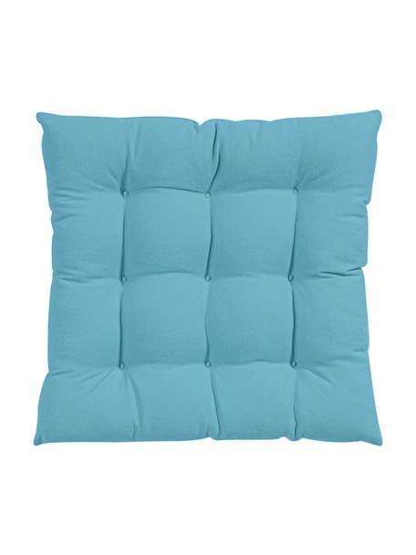 Cojín de asiento Ava, Funda: 100%algodón, Azul, An 40 x L 40 cm