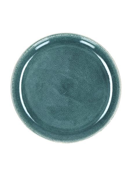 Platos postre de gres Audrey, 2uds., Gres, Verde azulado, Ø 20 cm