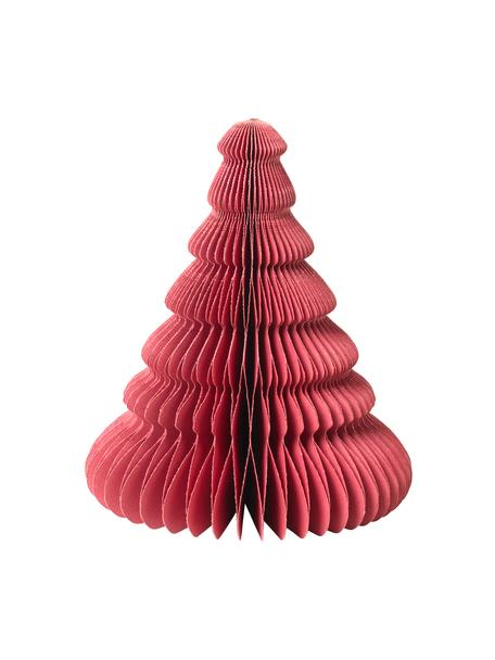 Dekoracja plisowana Paper Pine, Papier, Czerwony, Ø 13 x W 15 cm