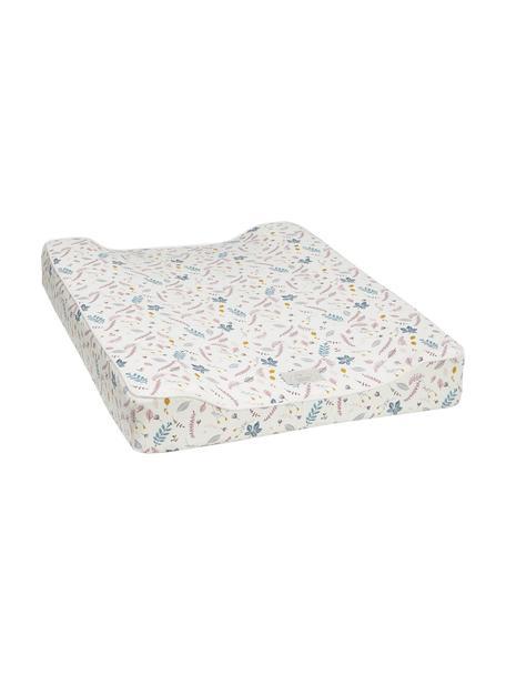 Colchón cambiador Pressed Leaves, Exterior: 100% algodón ecológico, c, Crema, rosa, azul, gris, amarillo, An 50 x L 65 cm
