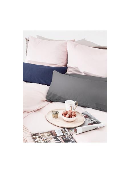 Poszewka na poduszkę z satyny bawełnianej Comfort, 2 szt., Ciemnyszary, S 40 x D 80 cm