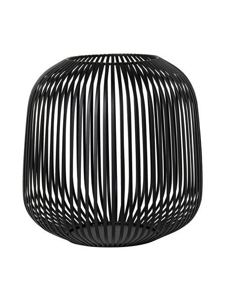Farolillo Lito, Metal recubierto, Negro, Ø 28 x Al 27 cm