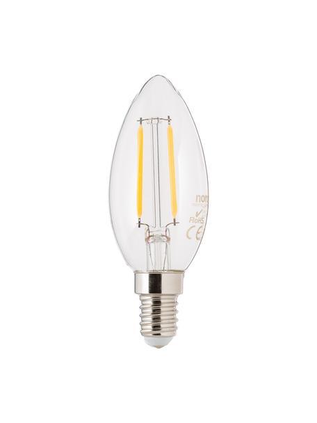 E14 peertje, 250lm, warmwit, 5 stuks, Peertje: glas, Fitting: aluminium, Transparant, Ø 4 x H 10 cm
