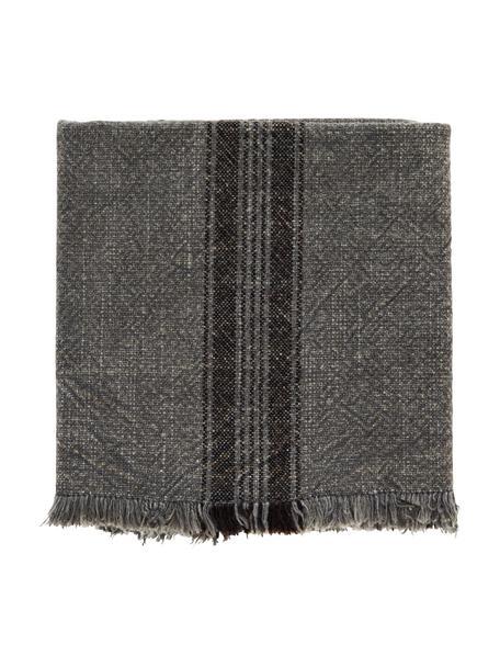 Paños de cocina de algodón Ripo, 2uds., 100%algodón, Gris oscuro jaspeado, negro, An 50 x L 70 cm