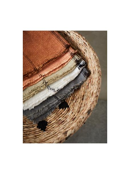Gestreifte Baumwoll-Geschirrtücher Ripo, 2 Stück, 100% Baumwolle, Dunkelgrau, meliert, Schwarz, 50 x 70 cm