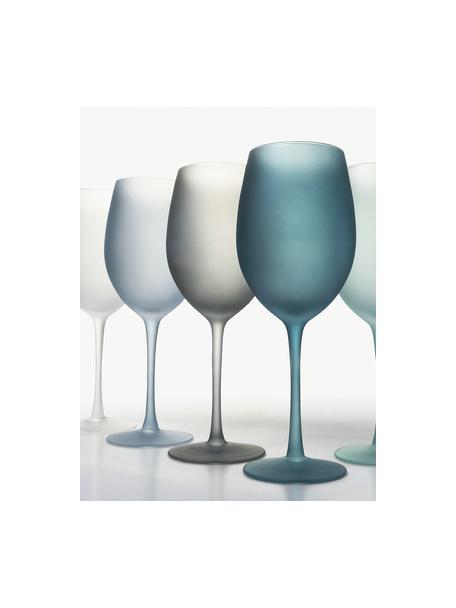 Wijnglazenset Happy Hour, 6-delig, Glas, Blauwtinten, Ø 9 x H 24 cm