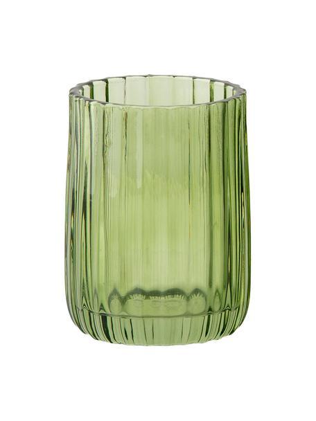 Kubek na szczoteczki Aldgate, Szklanka, Zielony, Ø 7 x W 10 cm