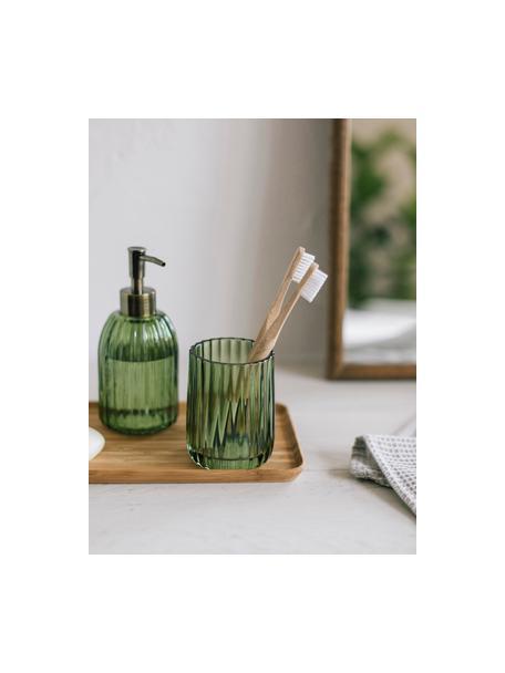 Tandenborstelbeker Aldgate, Glas, Groen, Ø 7 x H 10 cm