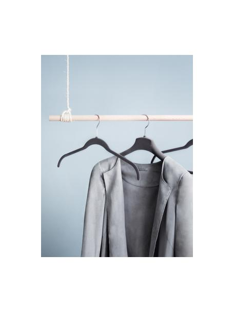 Perchas Grey Velver, 12uds., Tapizado: naylon, Gris, An 42 x Al 25 cm