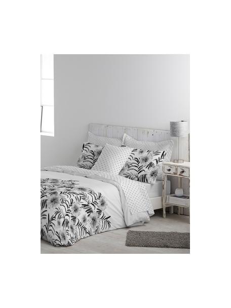 Funda nórdica doble cara Zenda, Algodón El algodón da una sensación agradable y suave en la piel, absorbe bien la humedad y es adecuado para personas alérgicas, Blanco, negro, gris claro, Cama 90 cm (160 x 220 cm)
