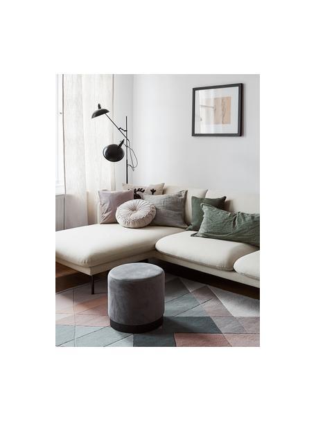 Sofá rinconero Moby, Tapizado: poliéster Alta resistenci, Estructura: madera de pino maciza, Patas: metal, Tejido beige, An 280 x F 160 cm