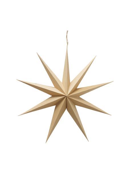 Adorno para colgar estrella Cassie, Papel, Beige, Ø 40 x F 10 cm