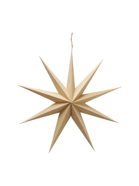 Deko-Stern Cassie, Papier, Beige, Ø 40 x T 10 cm