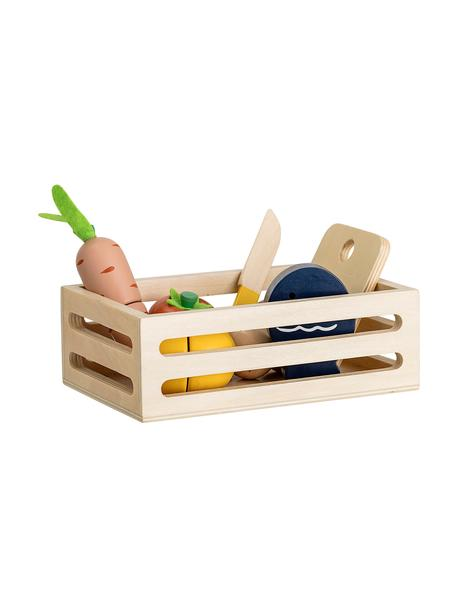 Set de juguetes Foodbox, 8pzas., Madera contrachapada, tablero de fibras de densidad media (MDF) recubierto, Multicolor, Set de diferentes tamaños