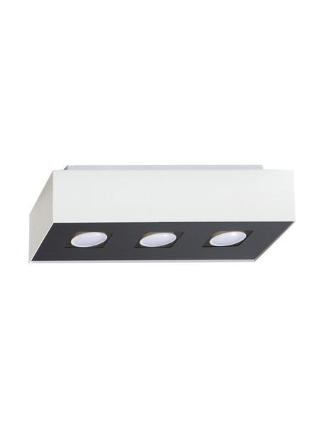 Deckenstrahler Hydra, Lampenschirm: Stahl, beschichtet, Baldachin: Stahl, beschichtet, Weiß, Schwarz, 34 x 11 cm
