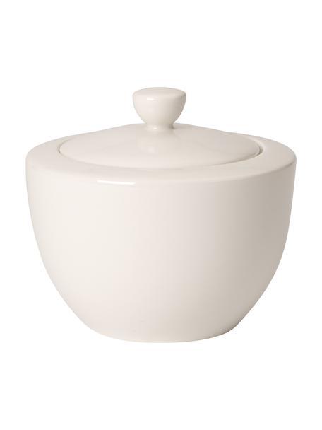 Zuccheriera in porcellana bianca For Me, Porcellana, Bianco, Ø 10 x Alt. 9 cm