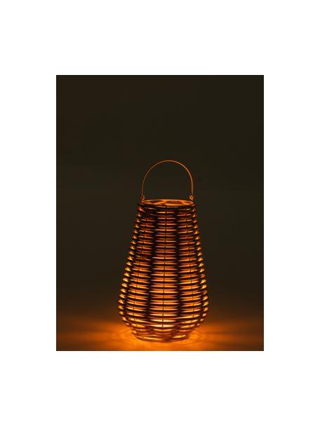 Lantaarn Wova met LED kaars, Beige, Ø 32 x H 62 cm
