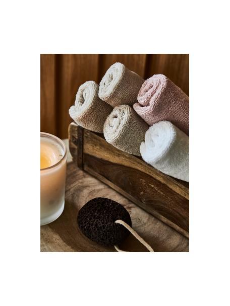 Handdoek Premium in verschillende formaten, met klassiek sierborduursel, Beige, XS gastendoekje
