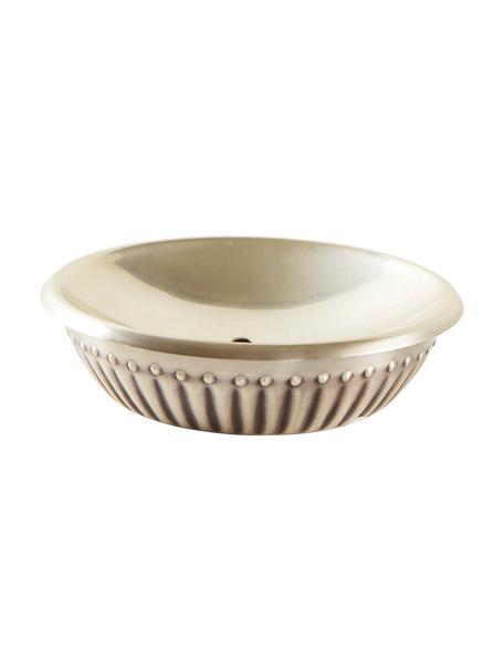 Portasapone Alida, Metallo, Argento antico, Ø 14 x Alt. 5 cm