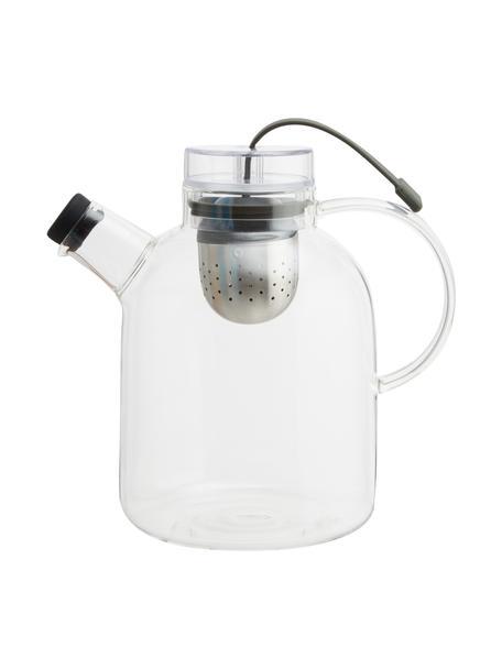 Teiera di design in vetro con colino Kettle, 1.5 L, Brocca: vetro, Trasparente, 1.5 L