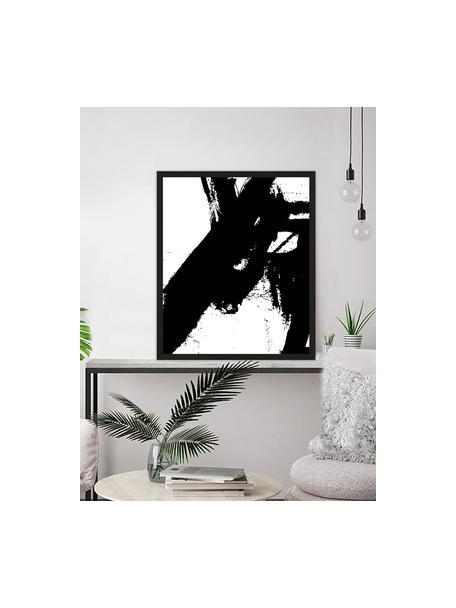 Oprawiony druk cyfrowy Franz Kline V1, Czarny, biały, S 53 x W 63 cm