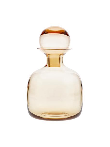 Handgemaakte karaf Colored 1,5 L, Glas, Amberkleurig, transparant, H 25 cm