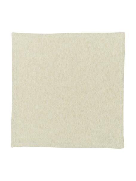 Servilletas de algodón con hilo lurex Vialactea, 2uds., Algodón, tejido lúrex, Beige, dorado, An 40 x L 40 cm