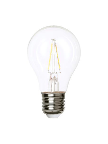 Bombillas E27, 220lm, blanco cálido, 5uds., Ampolla: vidrio, Casquillo: cobre niquelado, Transparente, níquel, Ø 6 x Al 11 cm