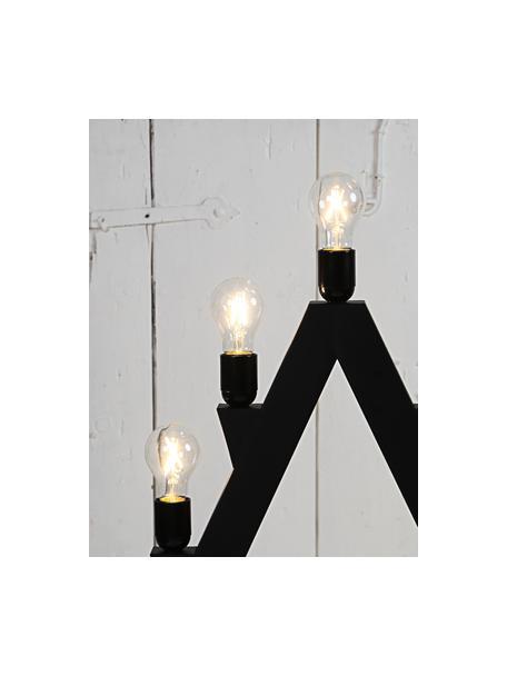 Lampadina E27, 2W, bianco caldo 5 pz, Lampadina: vetro, Trasparente, nichel, Ø 6 x Alt. 11 cm