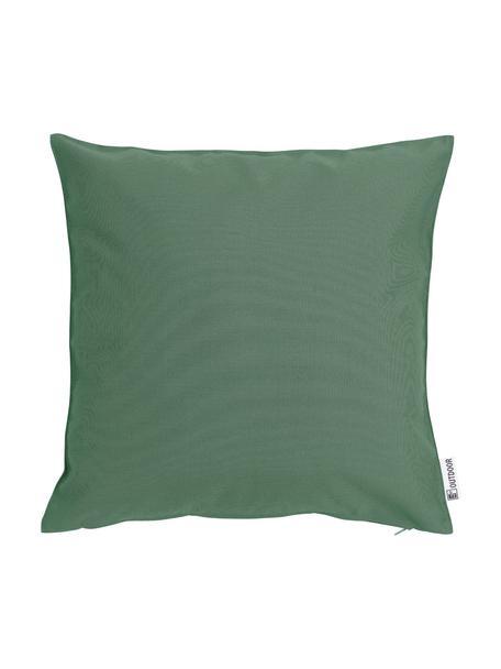 Cuscino da esterno tessuto bicolore St. Maxime, Verde scuro, nero, Larg. 47 x Lung. 47 cm