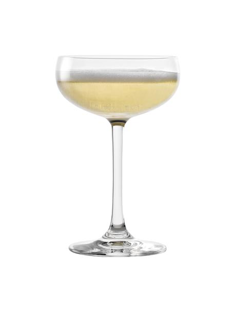 Copas pompadour de champán de cristal Elements, 6uds., Cristal, Transparente, Ø 10 x Al 15 cm