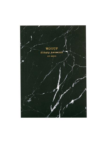 Notitieboek Black Marble, Papier, Zwart, 11 x 15 cm