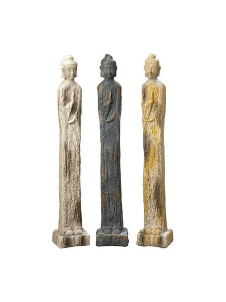 Set 3 oggetti decorativi Layana, Poliresina, verniciato, Multicolore, Larg. 11 x Alt. 68 cm