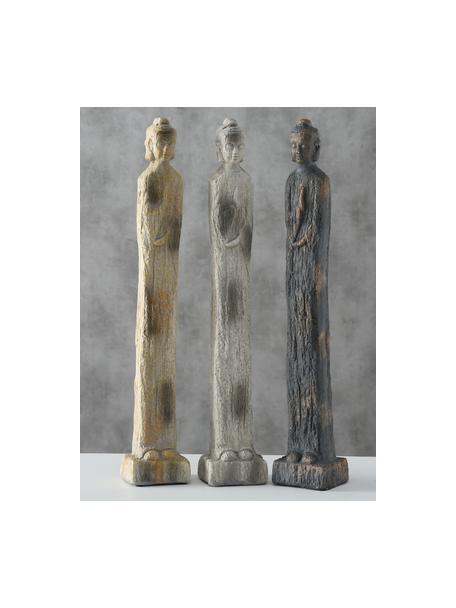 Komplet dekoracji Layana, 3 elem., Poliresing lakierowany, Wielobarwny, S 11 x W 68 cm